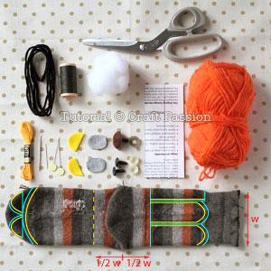 sock lion materials