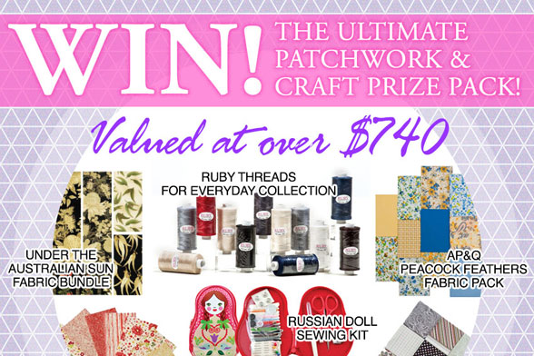 Giveaway: Patchwork & Craft Pack Worth Over $740 {Closed}
