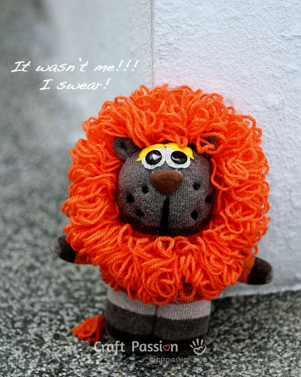 single sock lion