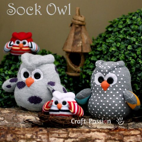 Sock Owl Sewing Pattern