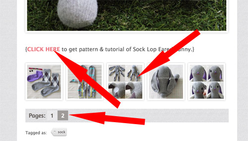 click to pattern page