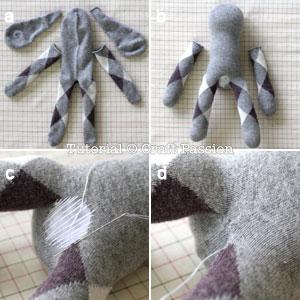 sew sock bunny 5