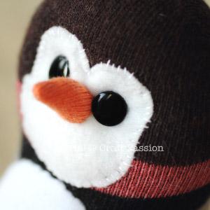 sock penguin face