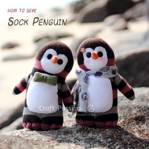 Sock Penguin Sewing Pattern