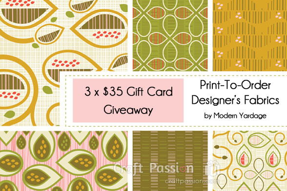 Giveaway: Modern Yardage Fabric Gift Cards {Closed}