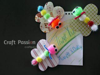 easy butterfly fridge magnet