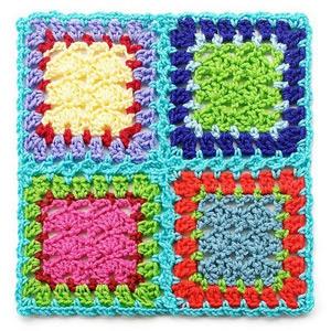 flat braid join granny squares