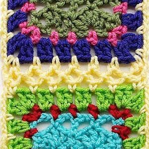 scallop join granny squares