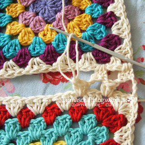 seamless join granny squares