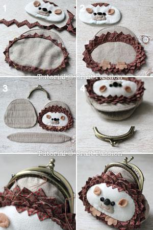 sew hedgehog purse 21