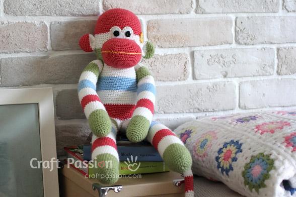 Sock Monkey Amigurumi Free Pattern Craft Passion