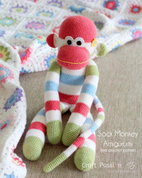 Amigurumi Mini Monkey-Free Pattern (Amigurumi Free Patterns ... | 588x470