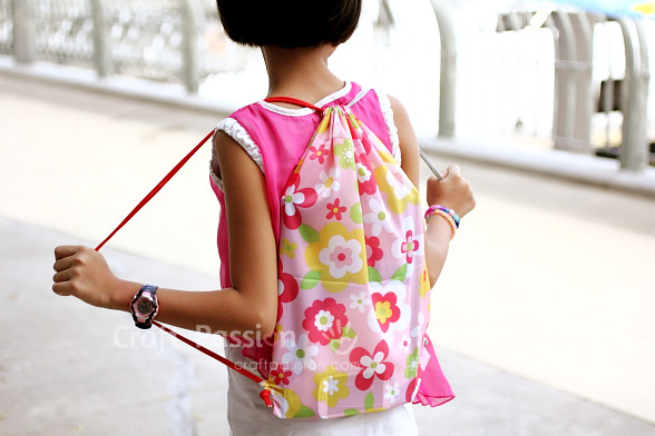Drawstring Backpack - Free Sewing Pattern | Craft Passion