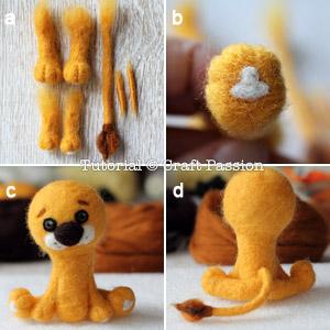 how to needle felt lion 10