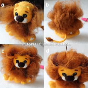 how to needle felt lion 14