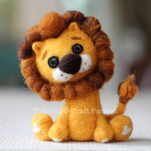 how to needle felt lion 16