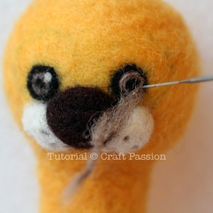 how to needle felt lion 7