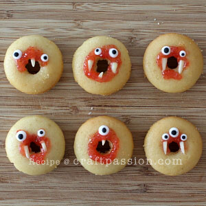 monster Halloween Donut Treats