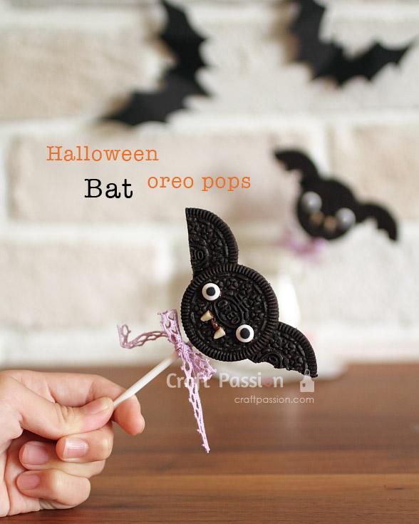 oreo bat cookies pop