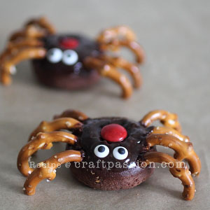 spider Halloween Donut Treats