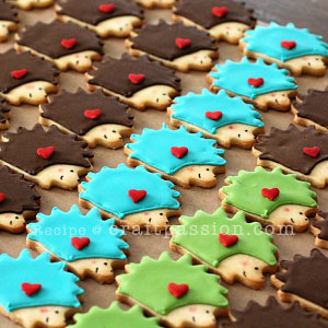 sugar-cookies-hedgehog