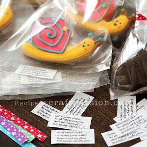 sugar cookies label