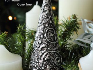 foil relief christmas tree