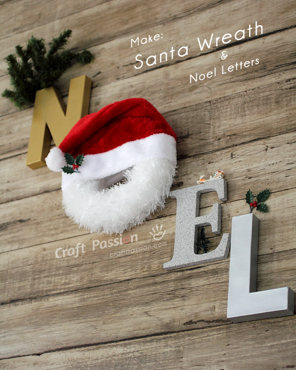make chirstmas santa wreath