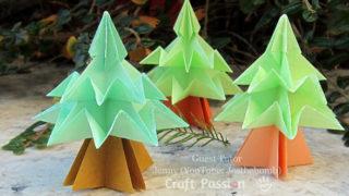 paper origami christmas tree