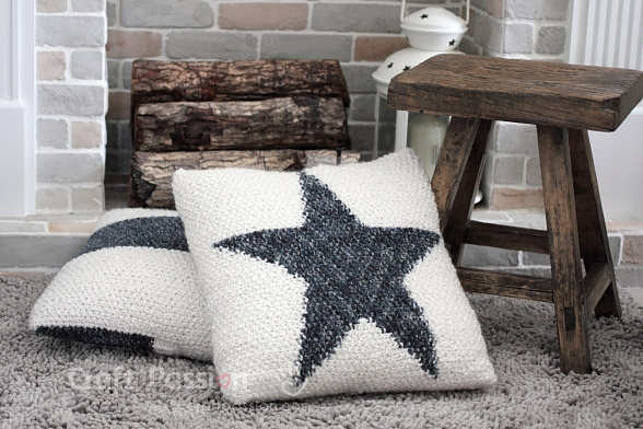 Star Pillow Knitting Pattern