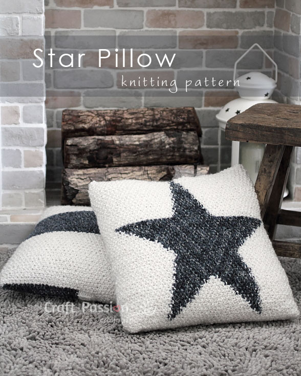 Star Pillow Free Knitting Pattern Craft Passion