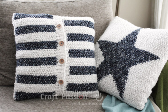 Star Pillow Free Knitting Pattern Craft Passion Page 2 Of 2