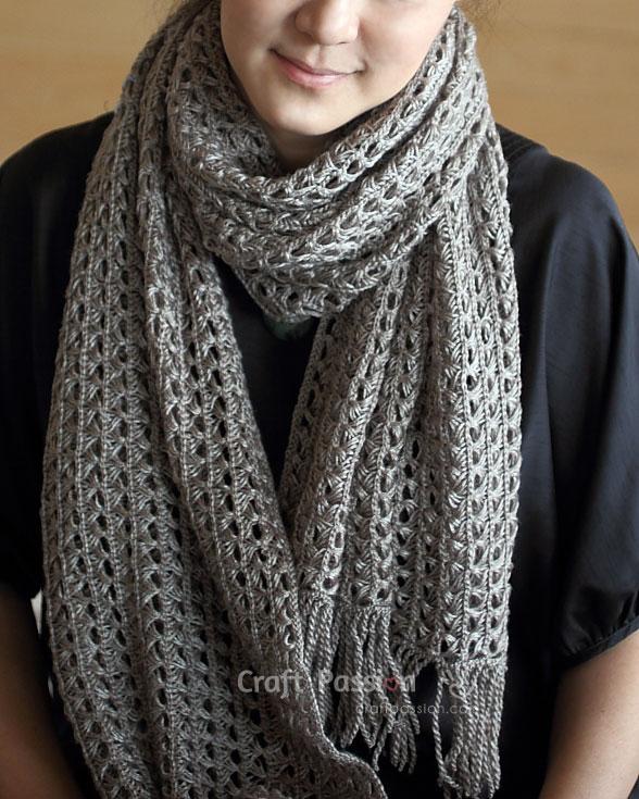 lace crochet scarf me