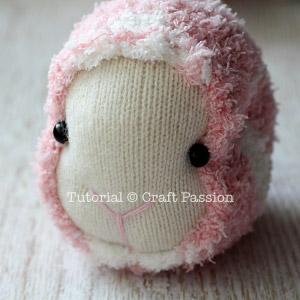 16 sock sheep head