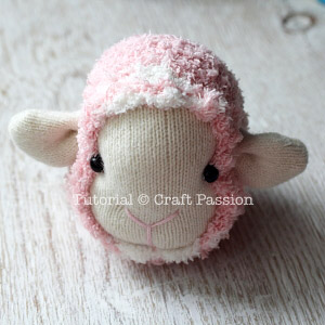 sock sheep full head
