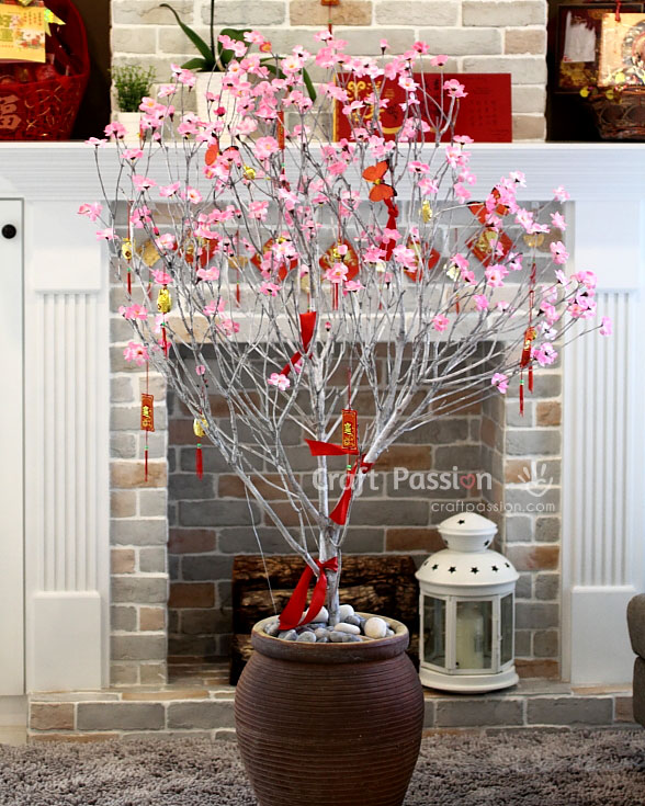 faux plum tree for chinese new year