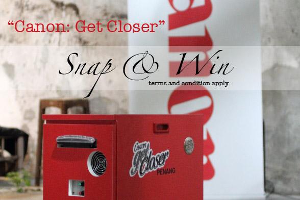 Canon: Get Closer Photo Contest