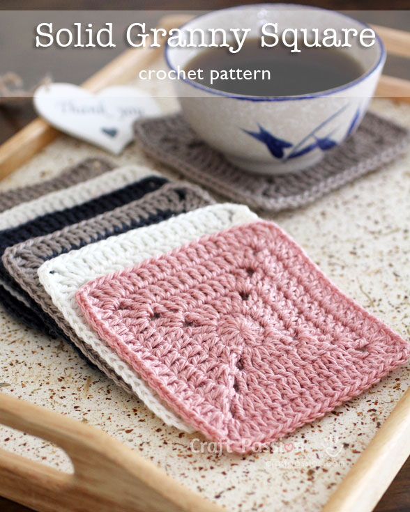 Solid Granny Square Free Crochet Pattern Craft Passion