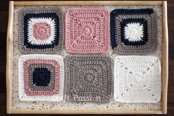 Solid Granny Square Crochet Pattern