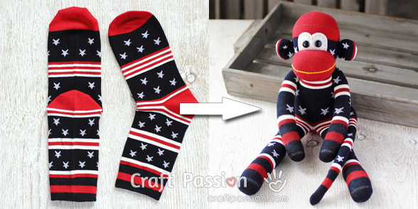 american star sock monkey