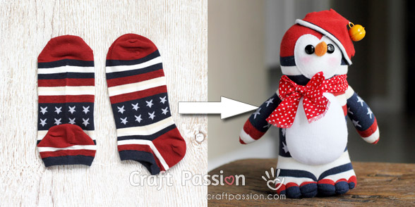 americana sock penguin