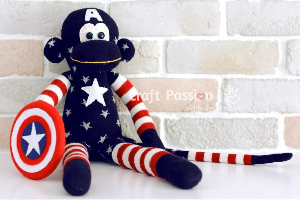 captain america sock monkey