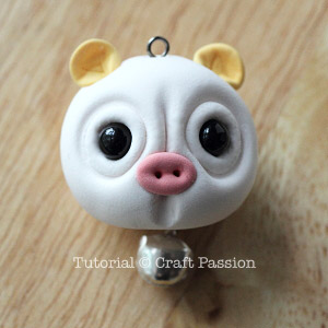 clay pig charm