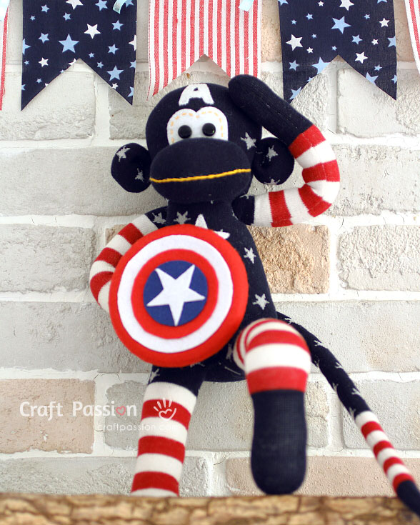 july 4 sock monkey