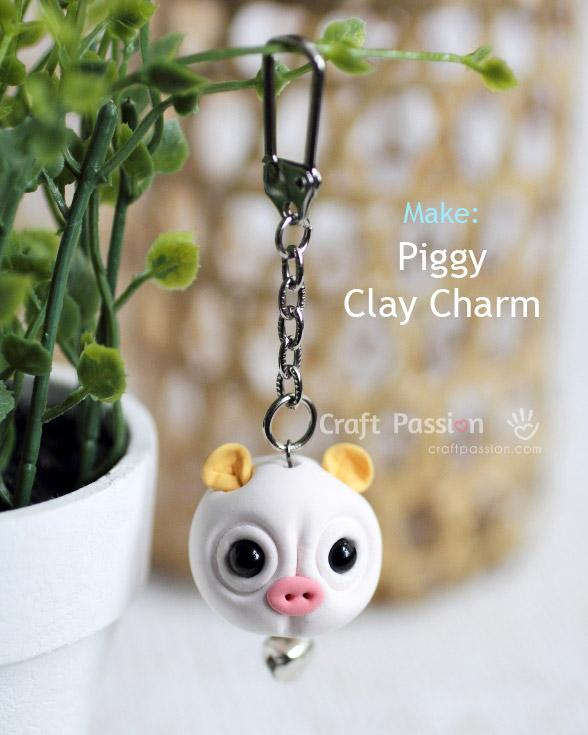 Piggy Clay Charm