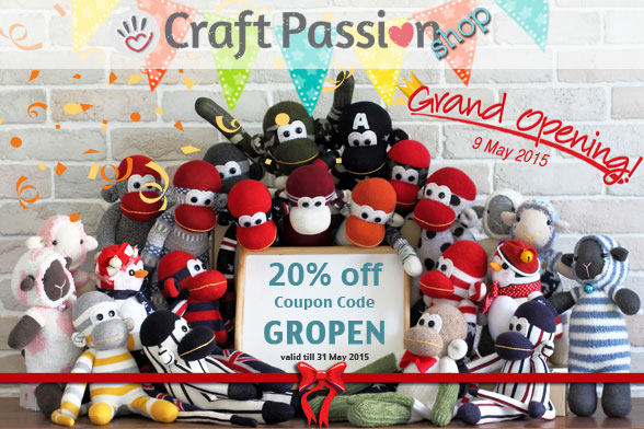 Buy Craft Supplies online, Grand opening sales 20% Off.