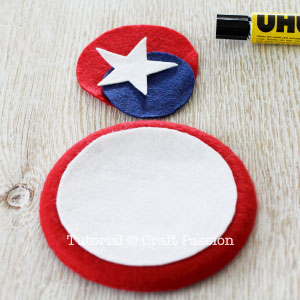 red white blue felt