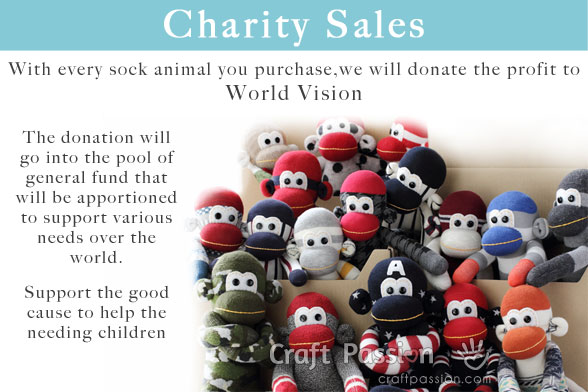 Sock Animals Charity Sales