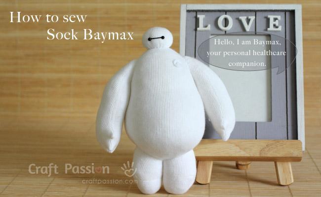 how to sew sock baymax slide