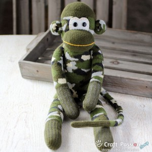 Congo Sock Monkey - The Great Soldier